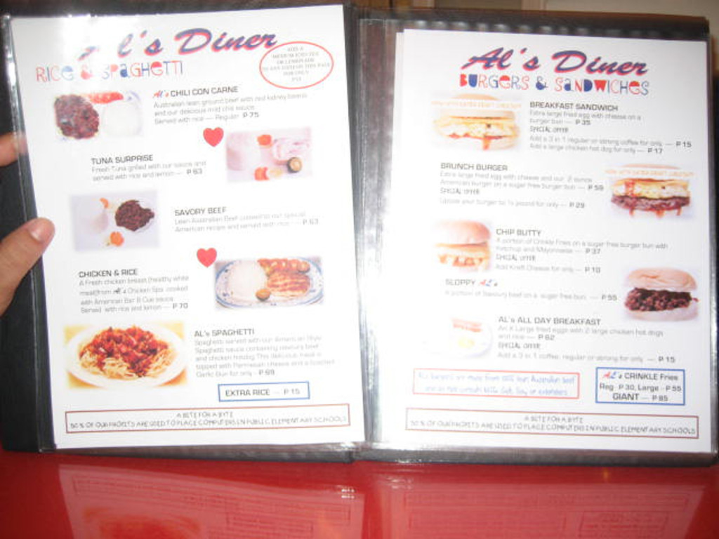 The menu :)
