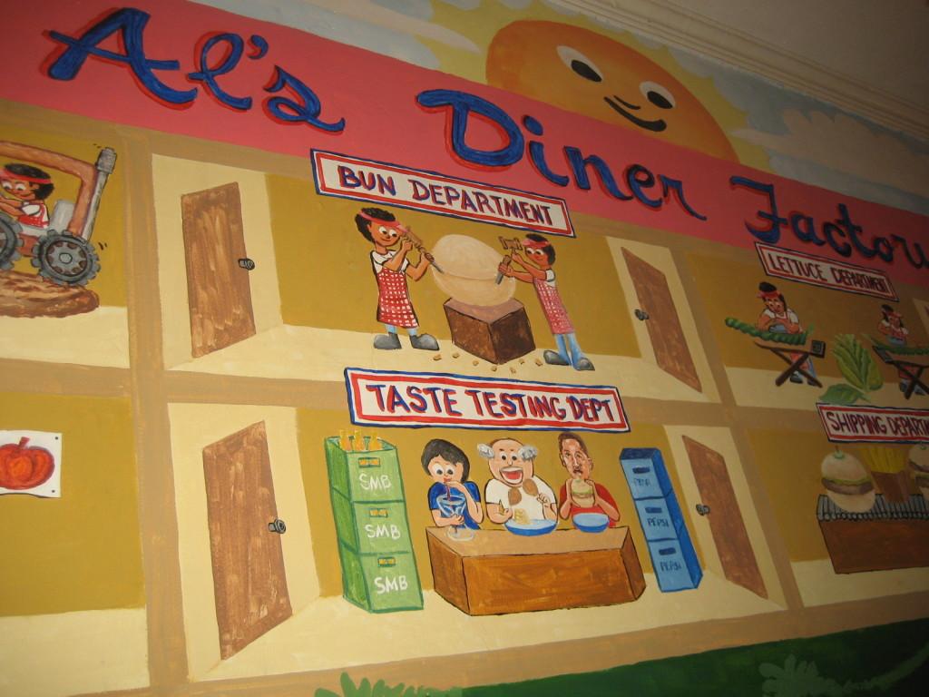 Burger mural