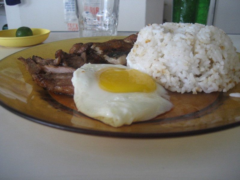 tobangsilog (tocino, bangus, itlog and rice)