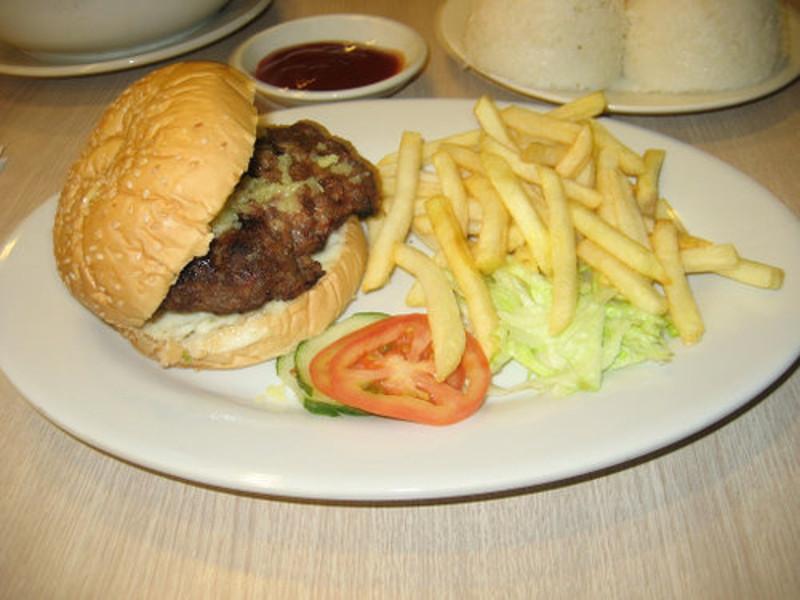 cheesy monster burger