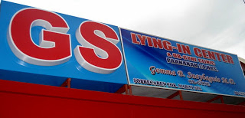 Signage of GS Lying-in Center and Ob-Gyne Clinic